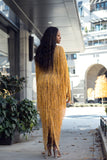 TROPHY LUX FRINGE LONG DRESS - UVM Collection