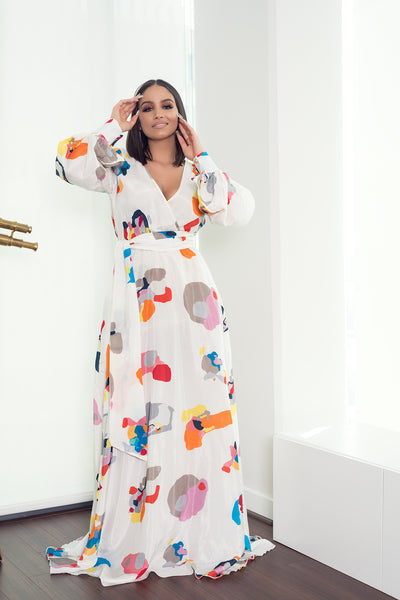 WORK OF ART MAXI DRESS - UVM Collection