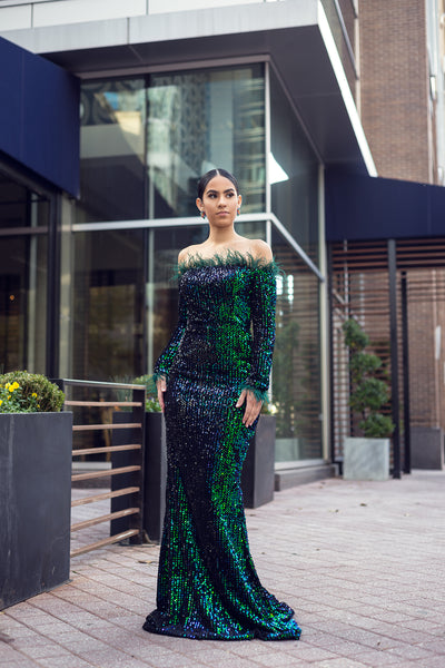ALL THAT GLITTERS LONG GOWN - UVM Collection