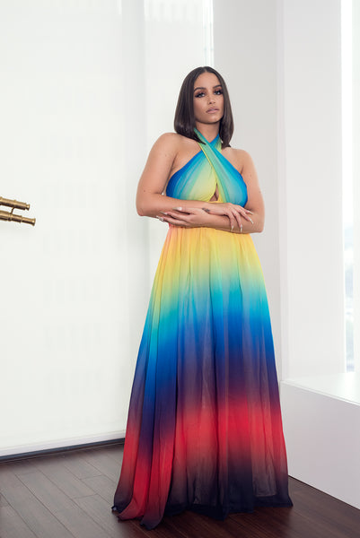 OMBRE SUNSET MAXI DRESS - PREORDER SHIPS OUT AUGUST 13TH - UVM Collection