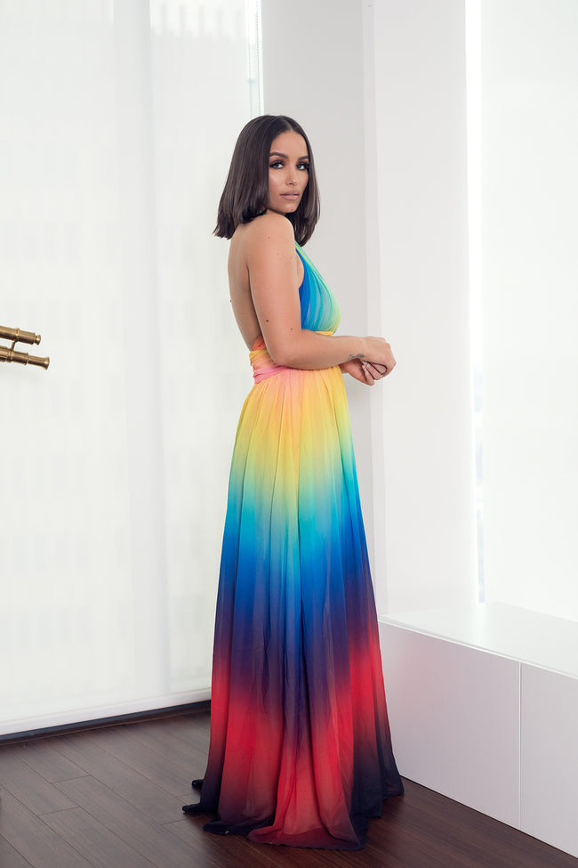 OMBRE SUNSET MAXI DRESS - UVM Collection