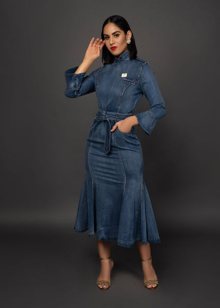 CHEN DENIM DRESS - UVM Collection