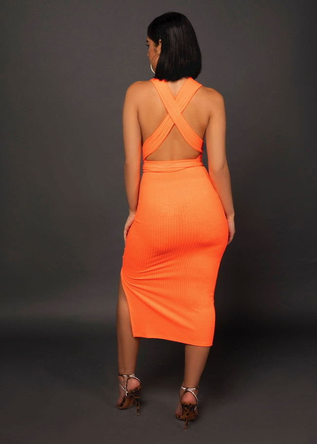 CORAL MIDI DRESS - UVM Collection