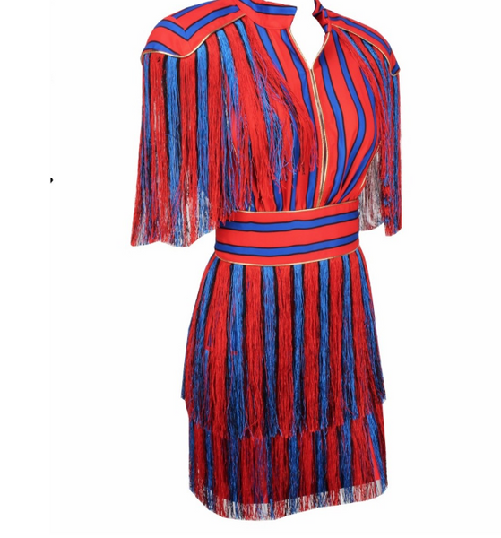 TAYMA TASSEL DRESS - UVM Collection
