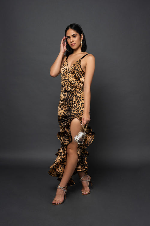 URIELA CHEETAH DRESS - UVM Collection