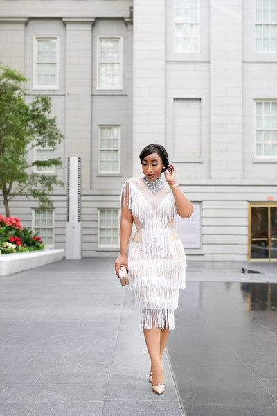 MORINE FRINGE DRESS