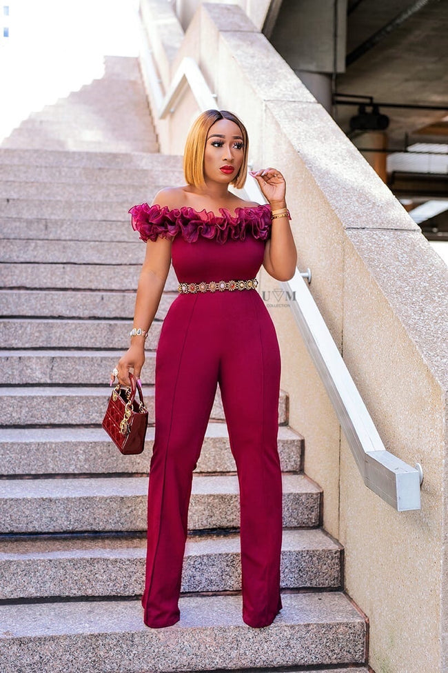 ROWAN OFF SHOULDER JUMPSUIT - UVM Collection