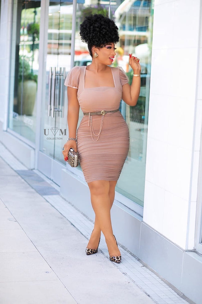 KENZIE BANDAGE DRESS - UVM Collection