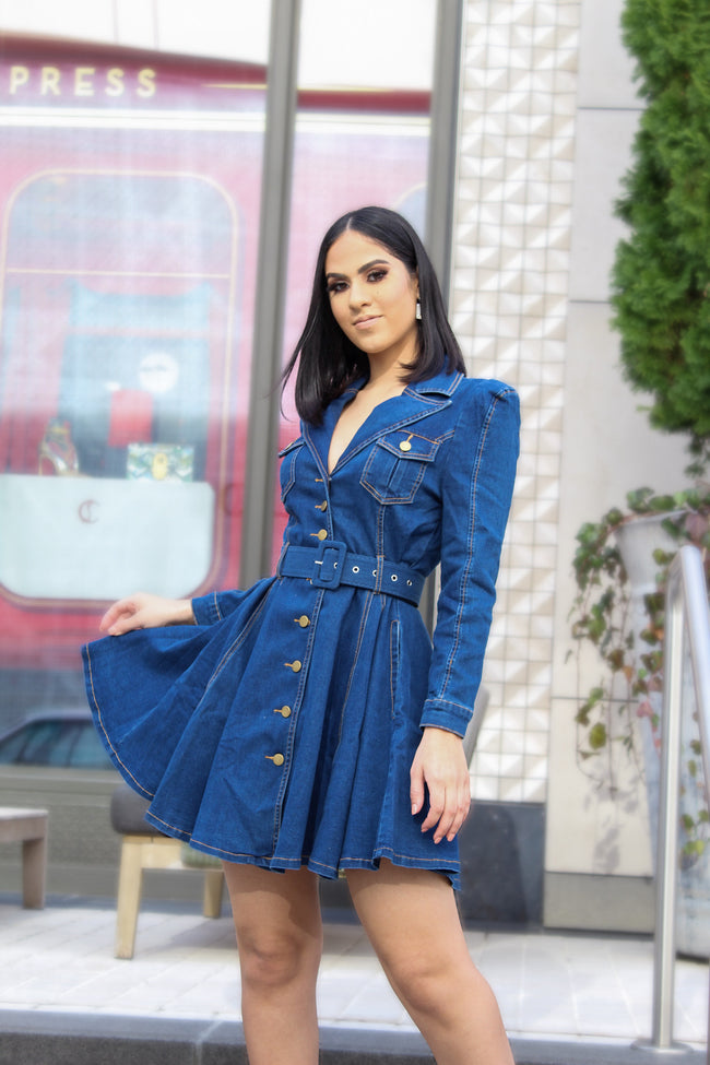 ADLEY DENIM DRESS - UVM Collection