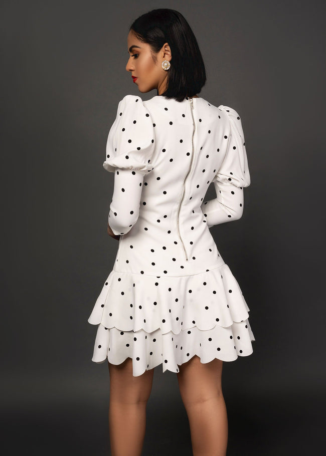 LOVING ALL DOTS MINI DRESS - UVM Collection