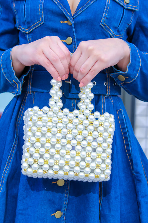 PEARL BASKET PURSE