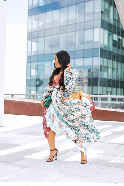 MIXED FLORAL DRESS - UVM Collection