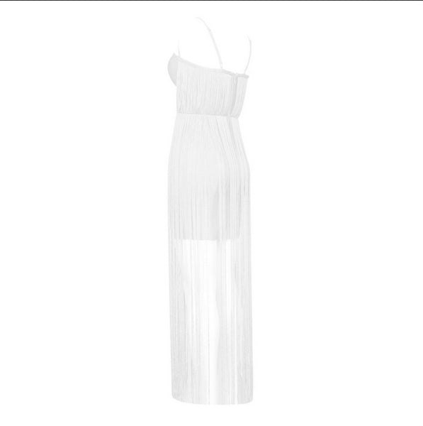 CASSANDRA FRINGE DRESS PRE-ORDER SHIPS MAY 28TH- LIMITED QUANTITY - UVM Collection