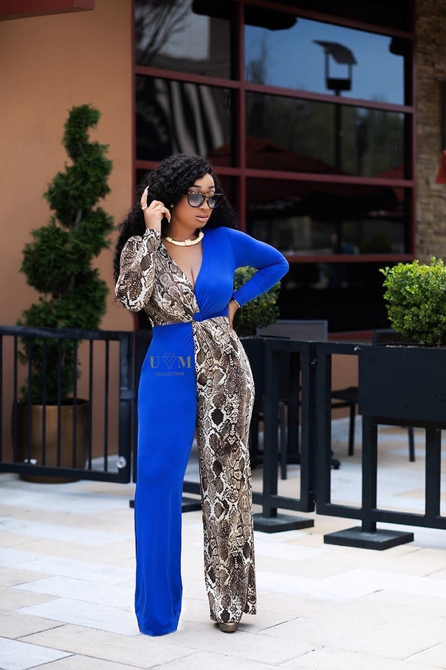 BLUE SHADE JUMPSUIT - UVM Collection