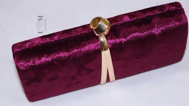 AVA VELVET CLUTCH - UVM Collection