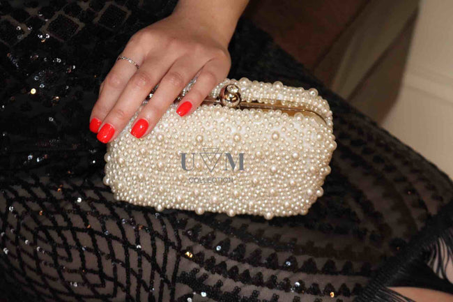 PEARL ICONIC CLUTCH - UVM Collection