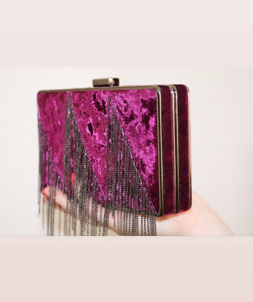 PURPLE FRINGE CLUTCH - UVM Collection