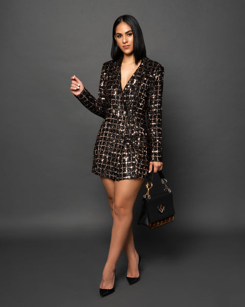 KIERA SEQUINS BLAZER DRESS - UVM Collection