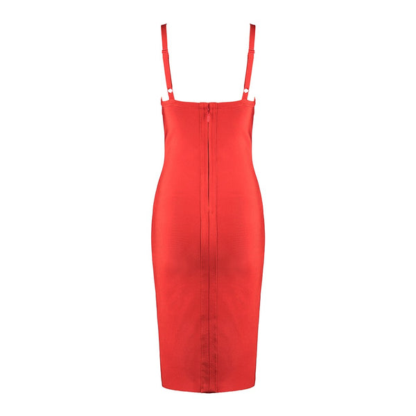VALENTINE RUFFLE SLIT DRESS - UVM Collection