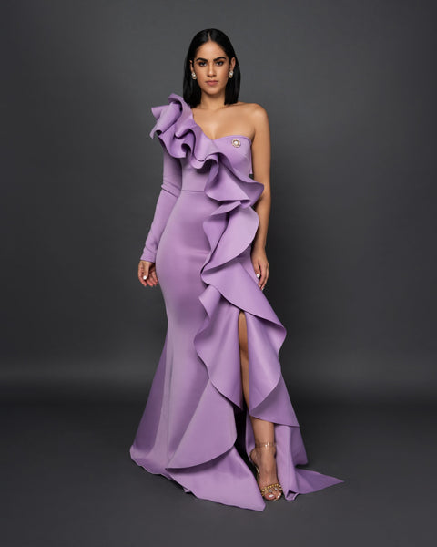 VALENTINA RUFFLE DRESS - UVM Collection