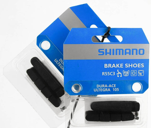Shimano R55C3 Road Brake Pads for Carbon Rims Pair (Black)