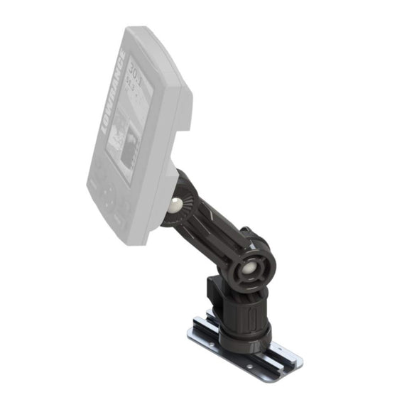 Yakattack Fish Finder Mount for Lowrance Elite/Hook 3,4,5 and Elite Ti 5,7 Replaces Stock Base, Track Mount with extension arm
