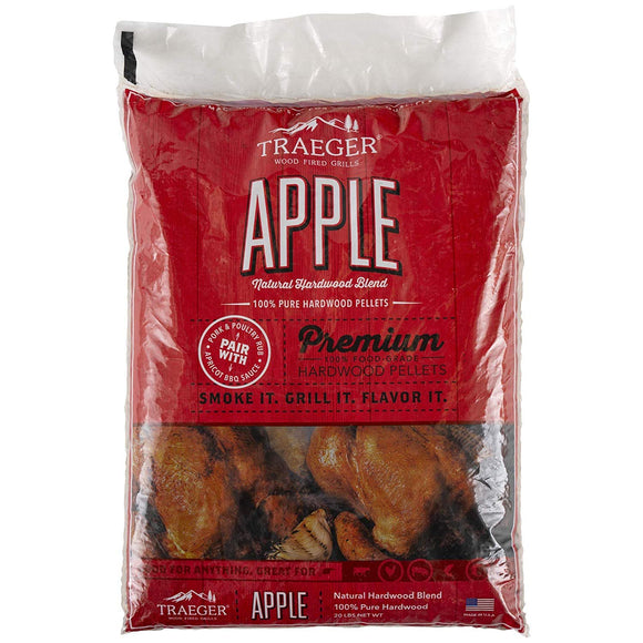 Traeger PEL313 Apple Barbecue Pellets, 20-Pound