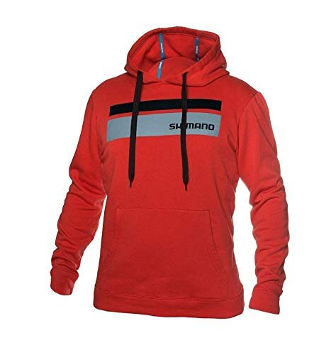 SHIMANO Corona Hoodie Medium Red