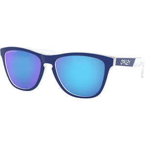 Oakley Men's Frogskins CF Sunglasses,OS,Polished Clear/Prizm Sapphire Polarized