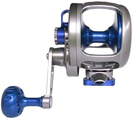 Seigler R107R OS (Offshore Small) Smoke/Blue RH Lever Drag Fishing Re