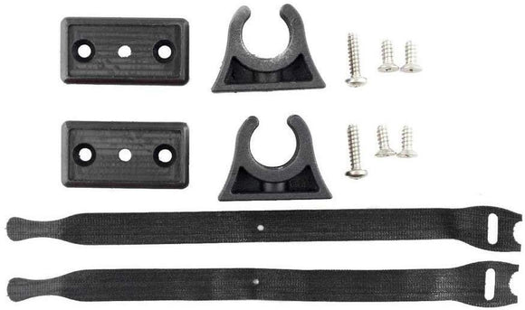 Yakattack ParkNPole Rubber Clips with deluxe Mounting base, Includes Hardware and security strap, 2 pack