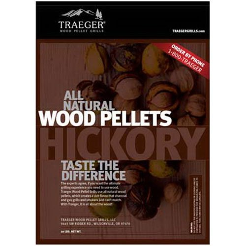 Traeger PEL304 Hickory Barbeque Pellets, 20-Pound