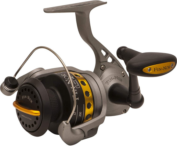 Fin-Nor LT40 Lethal Spinning Reel, 230-Yards, 10-Pound Mono Line Capacity, 23-Pound Maximum Drag, Gray and Black Finish