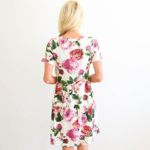 S & Co. Woven Flower Dress
