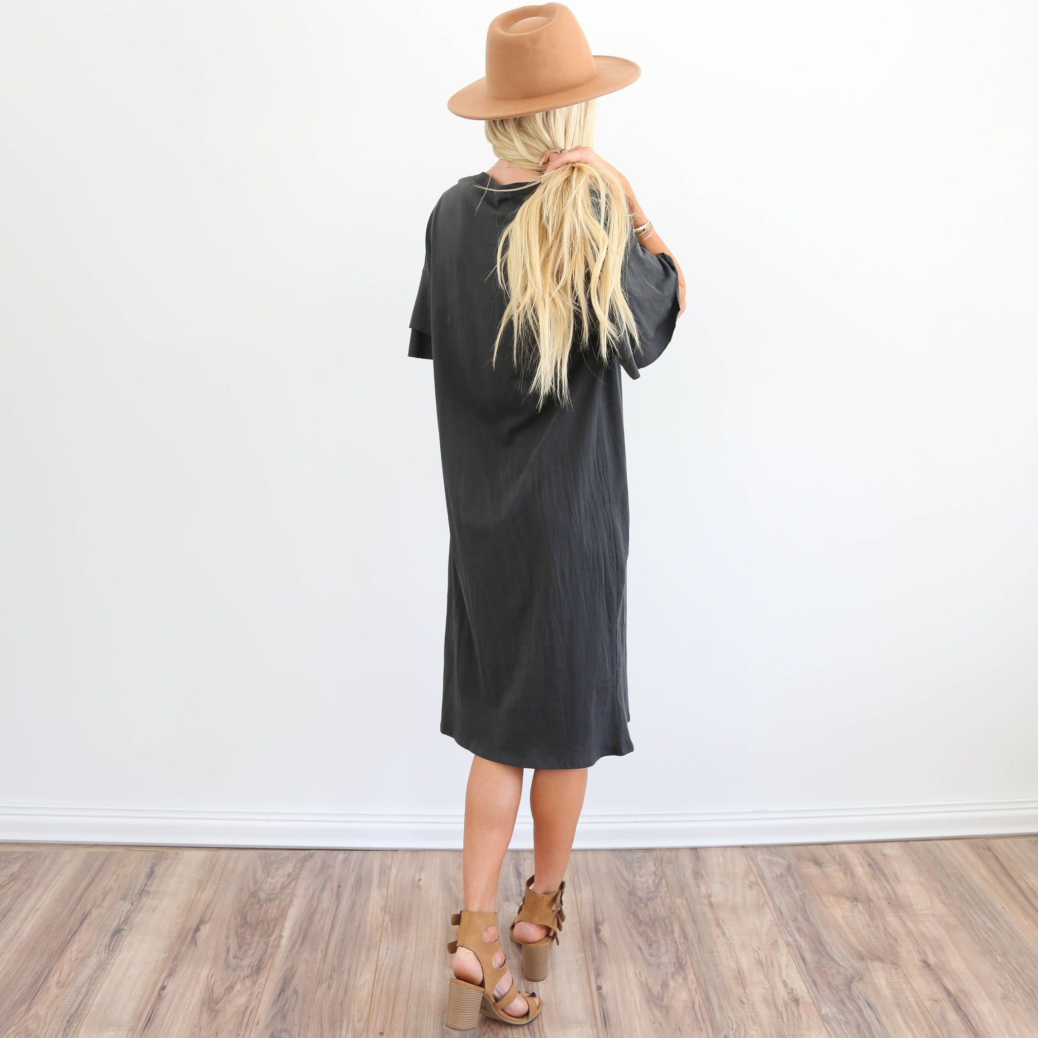 S & Co. Calina Ruffle Dress in Black