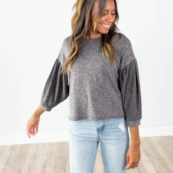 Ruby Knit Top in Black