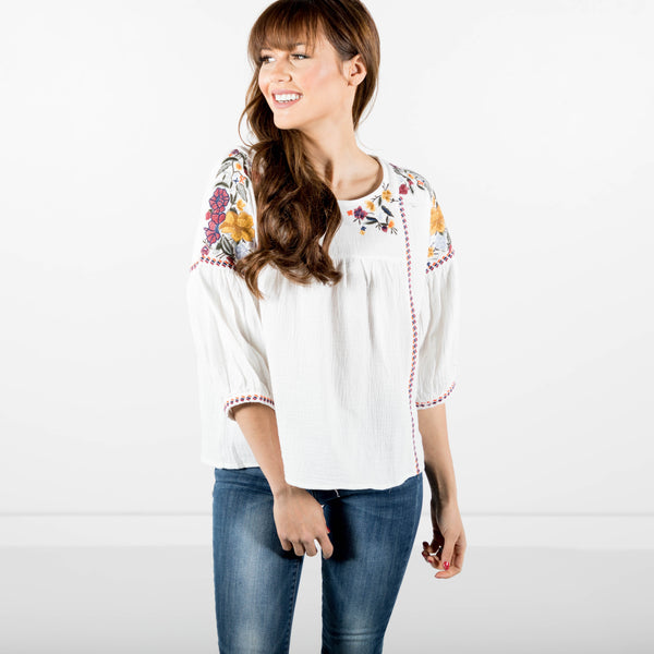 Grace Embroidered Top