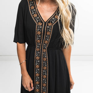 Hayes Cinched Dress in Black