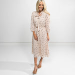 Lula Polkadot Dress in Biege