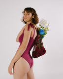 Burgundy One Piece