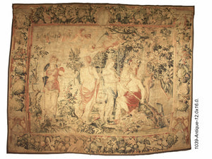 16th Century Tapestry of Brussels Judgment of Paris: Courtesy to Trades
