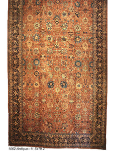 Antique Oversize Persian Rug