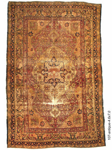 Antique Persian Kermanshah Rug