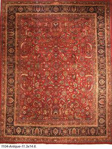 Antique Persian Mashad Rug