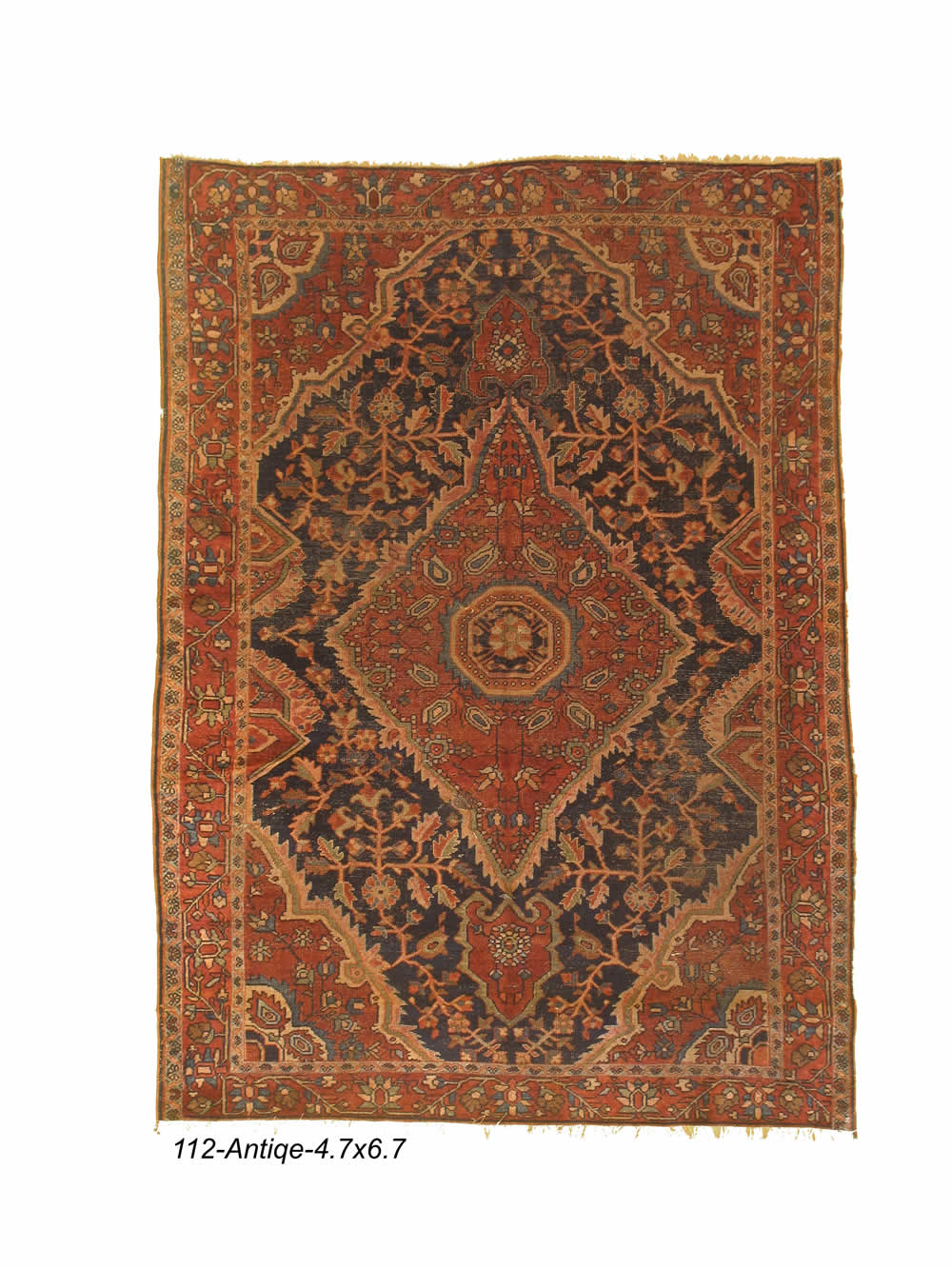 Antique Persian Sarogh Rug