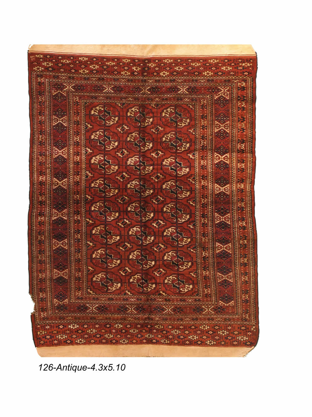 Antique Persian Turkmen Rug