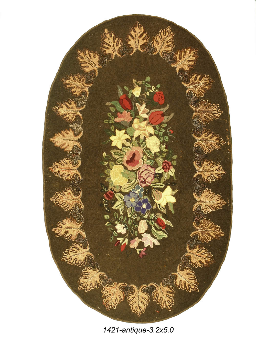 Antique American Hook Rug