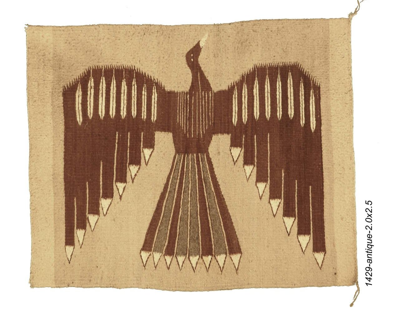 Navajo Single Saddle Stylized Eagle Rug
