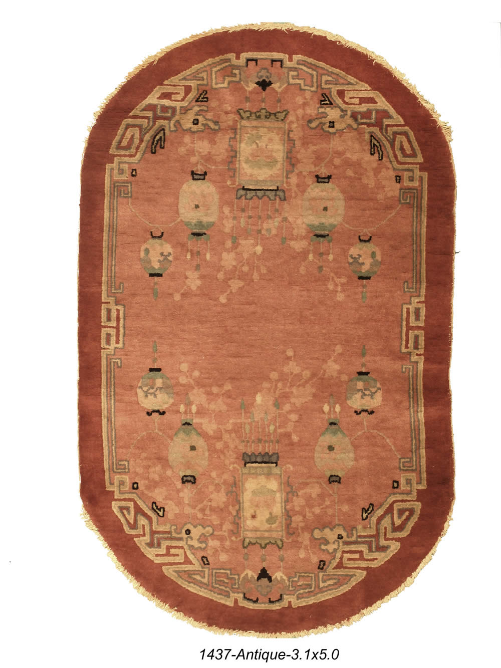Antique Chinese Hook Rug