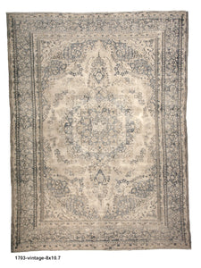 Vintage Distressed Persian Rug
